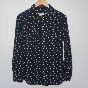 Merona Polka dot blouse size medium
